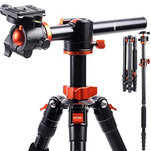 KF-Concept-Trepied-Monopode-Appareil-Photo-Rouge-TM2515T1-Trepied-Professionel-Compact-pour-DSLR-Trepied-Voyage-Leger-en-Aluminium-5-Sections-avec-Rotule-Metal-Sac-de-Transport-Inclus-Max-10kg-0