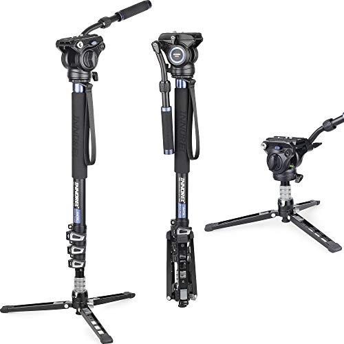 Monopode-en-Aluminium-INNOREL-VM70K-Monopied-Video-Professionnel-avec-Tete-Fluide-et-Base-Tripode-pour-Appareil-Photo-Camera-Telescopique-DSLR-Camescopes-Max-6kg-0