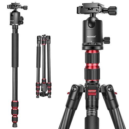 Neewer-200-cm-Trpied-Monopode-en-Fibre-de-Carbone-2-Axes-Centraux-pour-Appareil-Photo-Rotule–360-degrs-14-po-Plaque-de-Chaussure-Rapide-et-Sac-pour-DSLR-Camra-Camscope-Charge-jusqu-12-kg-0