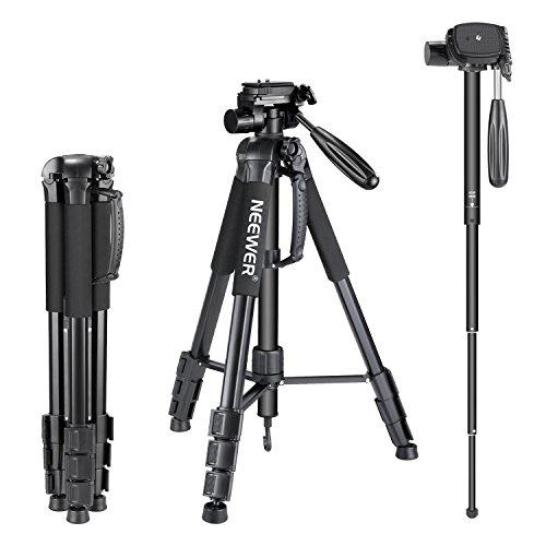 Neewer-Trpied-Portable-en-Alliage-daluminium-2-en-1-Maximum-177-cm-avec-tte-pivotante–3-Directions-et-Sac-de-Transport-pour-Appareil-Photo-camscope-DSLR-DV-0