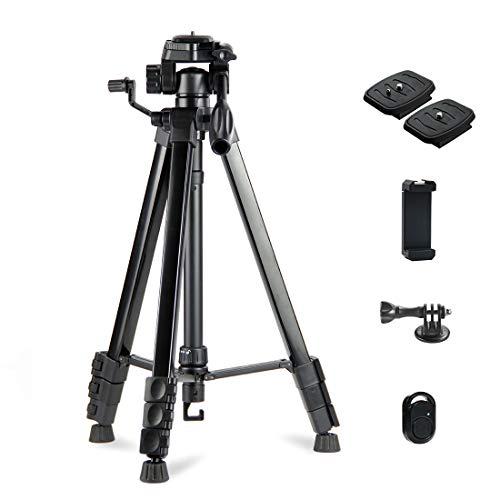 Phinistec-175cm-Aluminium-Trpied-Appareil-Photo-pour-Smartphone-Camra-iPhone-Webcam-Gopro-avec-Adaptateur-de-Tlphone-et-Gopro-pour-Photo-et-Vido-Noir-Mat-0