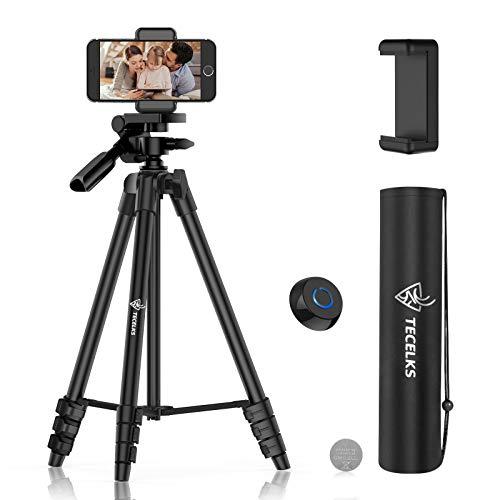 Trpied-Smartphone-Trpied-Portable-44-135cm-Aluminium-de-TlphoneCamra-avec-Tlcommande-Bluetooth-et-Support-de-Tlphone-Flexible-Sac-de-Transport-pour-VoyageYoutube-VidoSelfieTikTok-0