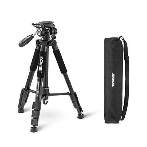 ZOMEIQ111-Trepied-Professionnel-pour-Appareil-Photo-et-Camera-avec-Un-Sac-de-Transport-Compatible-Canon-Nikon-et-Sony-Noir-0